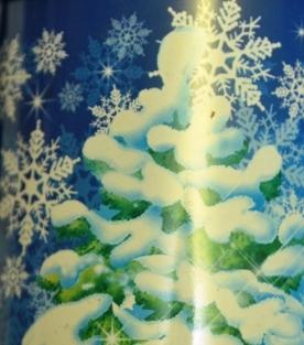елка с снежинками
